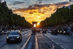 Champs Elysees, Parijs royalty-vrije stock afbeelding