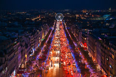 Champs elysees, Paris. Royalty Free Stock Image
