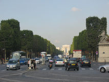 Champs Elysees Paris Stock Photography