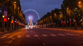 Champs Elysees Paris. Arc de Triomphe and Place de la Concorde are on this street.Photo taken on: May 8th, 2017 Stock Images