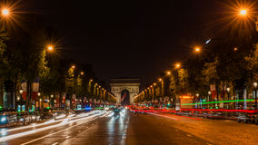 Champs Elysees Paris. Arc de Triomphe and Place de la Concorde are on this street.Photo taken on: May 8th, 2017 Stock Image