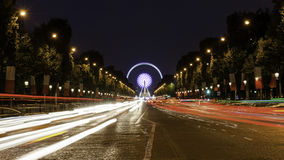Champs Elysees Paris. Arc de Triomphe and Place de la Concorde are on this street.Photo taken on: May 8th, 2017 Stock Photography