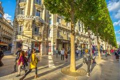 Champs Elysees Paris stock image