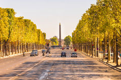 The Champs-Elysees, Paris Royalty Free Stock Photo