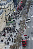 Champs Elysees, Paris. Pedestrian at Crosswalk in Champs Elysees, Paris royalty free stock photos