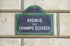 Champs Elysees in Paris. Street sign for Champs Elysees in Paris Royalty Free Stock Images