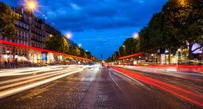 Champs-Elysees parisien Images libres de droits