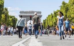 Champs-Elysees a pie foto de archivo