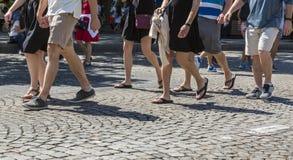 Champs-Elysees a piedi Fotografia Stock Libera da Diritti