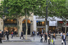 Champs Elysees Street in paris Stock Photo