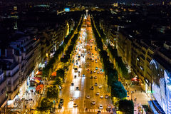 Champs-Elysees at sunset Stock Image