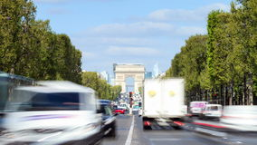 Champs-Elysees timelapse stock video footage