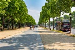 Champs-Elyseesallee in Paris, Frankreich stockfoto