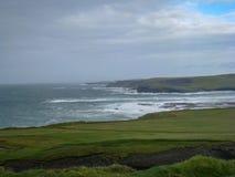 Champs et Cliff Top Walks verts près de Kilkee, Irlande image stock