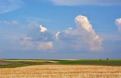 Champs et nuages photographie stock libre de droits