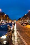 Champs-Élysées at night Stock Photography