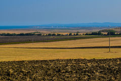 Champs près de la Mer Noire Photo libre de droits