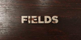 Champs - titre en bois sale sur l'érable - image courante gratuite de redevance rendue par 3D illustration stock