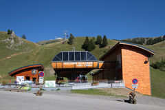 Chamrousse cable car start station Stock Images