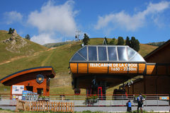 Chamrousse Cable Car Station. New  Cable Car Station in Chamrousse mountains Stock Photography