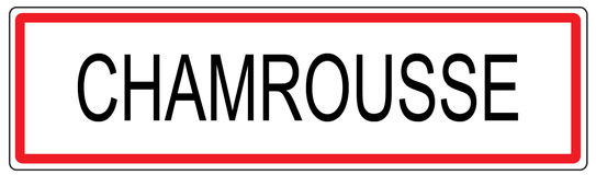 Chamrousse city traffic sign illustration in France Royalty Free Stock Photo