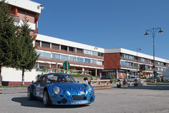Chamrousse main street. CHAMROUSSE, FRANCE, August 20, 2015 : The mountain resort prepares itself for the annual uphill car race, counting for French Stock Photography