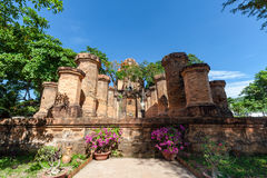 Chamtürme von PO Nagar Berühmter Palast in Nhatrang, Vietnam lizenzfreies stockfoto