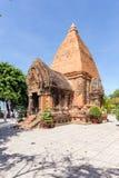 Chamtorens van po Nagar Beroemd paleis in Nhatrang, Vietnam Royalty-vrije Stock Afbeelding