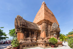 Chamtorens van po Nagar Beroemd paleis in Nhatrang, Vietnam Stock Fotografie