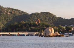 Chamtorens van po Nagar Beroemd paleis in Nhatrang, Vietnam Stock Foto