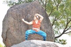 Chan άγαλμα της Jackie στην πόλη ταινιών Ramoji, Hyderabad Στοκ εικόνα με δικαίωμα ελεύθερης χρήσης