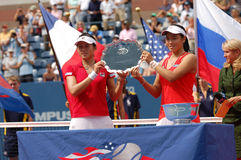 Chan & Chuang runners-up US Open 2007 (16) Stock Photo