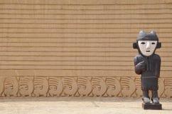 chan inca Перу губит статую стоковые изображения