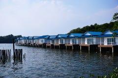 Chan LE Resort Seashore δίπλα στον μπλε ωκεανό στο Κόλπο της Ταϊλάνδης Στοκ φωτογραφίες με δικαίωμα ελεύθερης χρήσης
