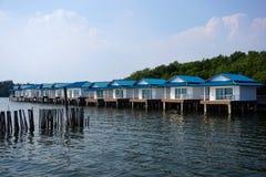 Chan LE Resort Seashore δίπλα στον μπλε ωκεανό στο Κόλπο της Ταϊλάνδης Στοκ φωτογραφία με δικαίωμα ελεύθερης χρήσης