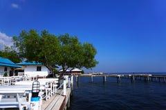 Chan LE Resort Seashore δίπλα στον μπλε ωκεανό στο Κόλπο της Ταϊλάνδης Στοκ Φωτογραφία