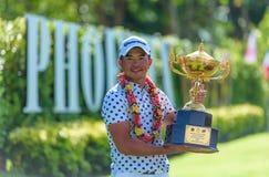 Chan Shih-chang av kines Taipei vinnaren av king's kuper 2016 på Phoenix guld- golf & klubbhuset Pattaya royaltyfria foton