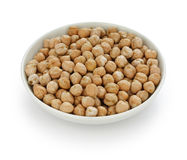 Chana, chickpea, garbanzo bean. In a small dish stock image