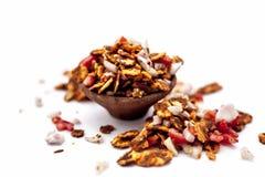 Chana Chur Garam populär indier och asiatmellanmål eller aptitretare royaltyfri bild