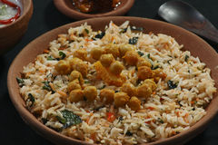 Chana Dal Biryani. Kabuli chana Biryani is an innovative blend of rice and pulses Royalty Free Stock Photo