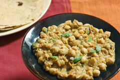 Chana dal in spicy gravy from North India. Chana dal cooked in fresh indian spices Stock Photo