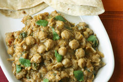 Chana dal in spicy gravy from North India. Chana dal cooked in fresh indian spices Stock Images