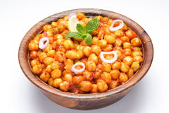 Chana masala. Indian curry studio table top Stock Image