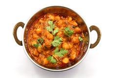 Chana masala, chickpea curry Zdjęcie Stock