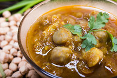 Chana masala close up view Royalty Free Stock Images