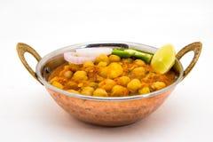 Chana Masala - Indiański korzenny jarski naczynie dla lunchu i łomotu Zdjęcia Stock