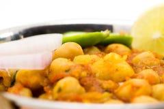 Chana Masala - Indiański korzenny jarski naczynie dla lunchu i łomotu Zdjęcie Stock