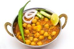Chana Masala - Indiański korzenny jarski naczynie dla lunchu i łomotu Zdjęcia Royalty Free