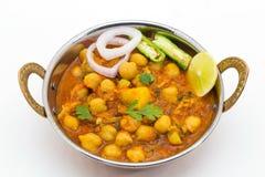 Chana Masala - Indiański korzenny jarski naczynie dla lunchu i łomotu Obraz Royalty Free
