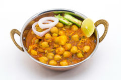 Chana Masala - An Indian spicy vegetarian dish for lunch and din Stock Images